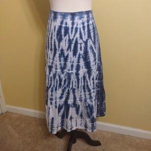 J. Jill tie dye cotton prairie skirt sz medium